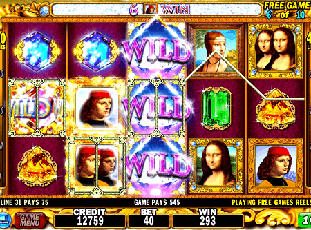 davinci diamonds slot at coinfalls