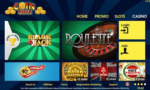 Casino Lobby CoinFalls
