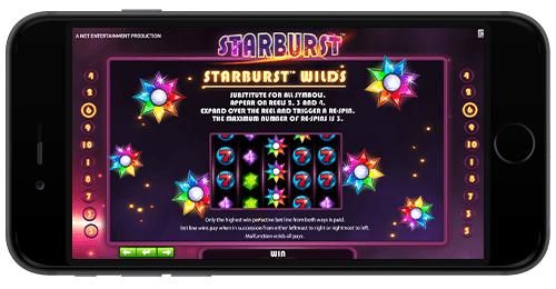 starburst slots no deposit